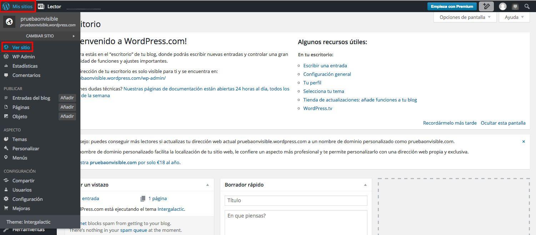 ¿Cómo ver mi sitio en WordPress?