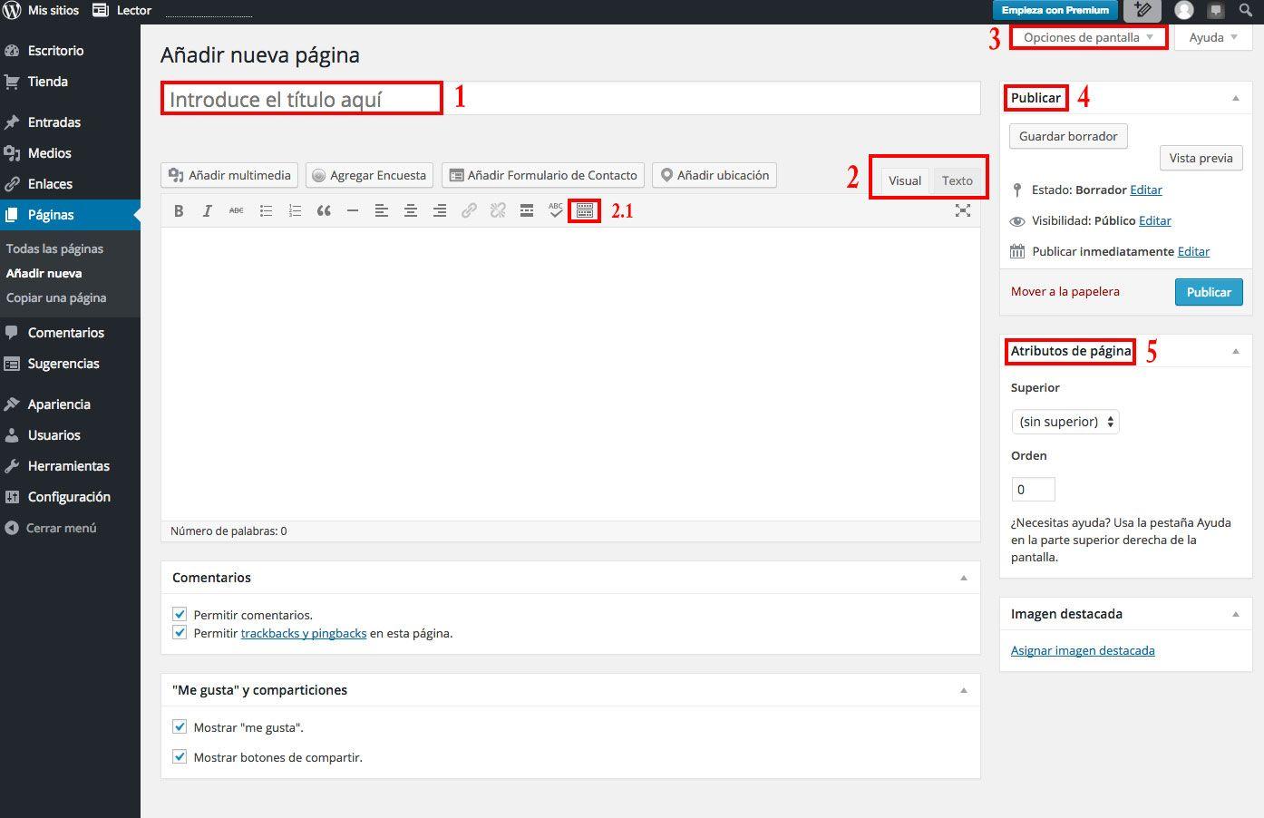 ¿Cómo crear una página en WordPress.com?