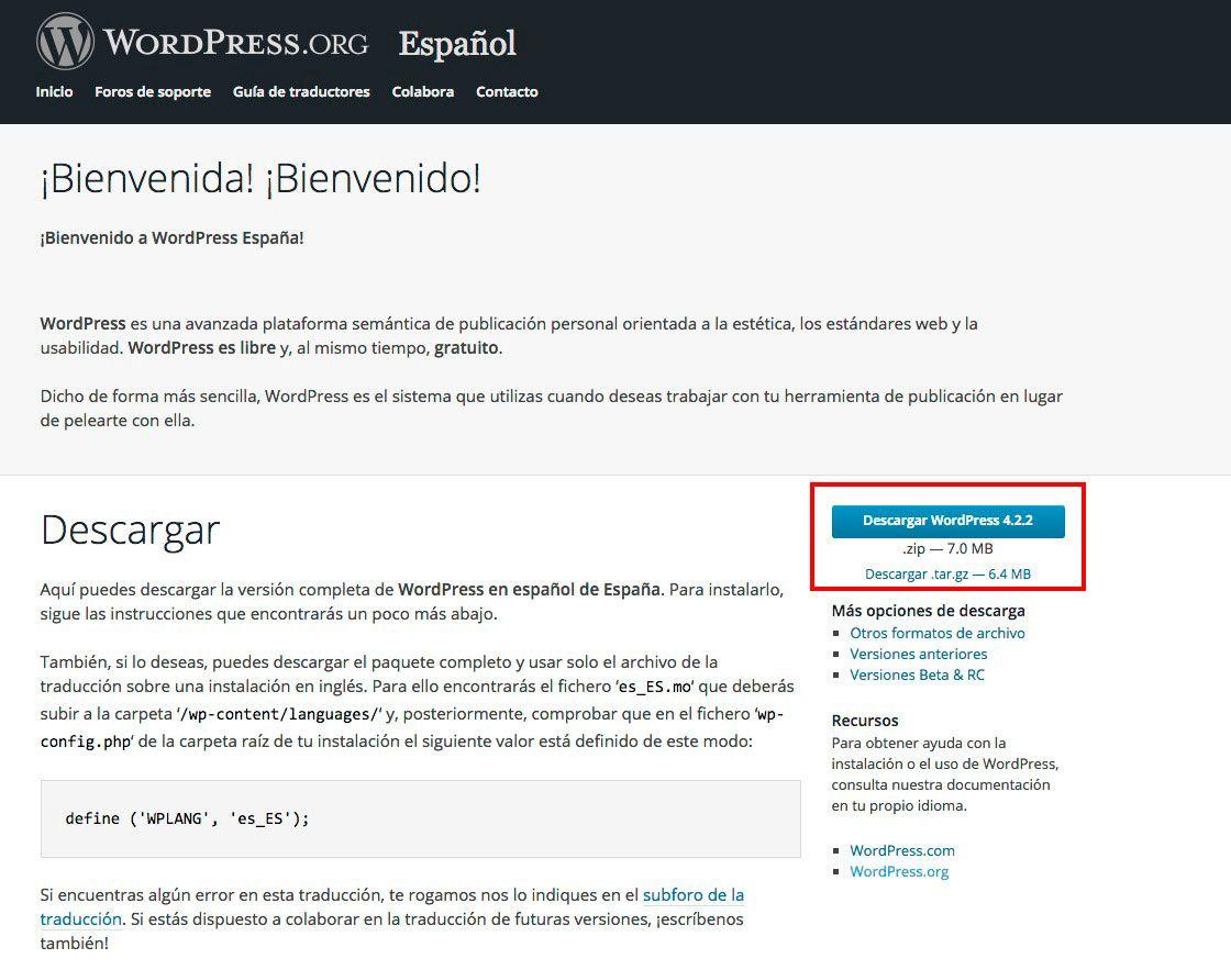 descarga-wordpress