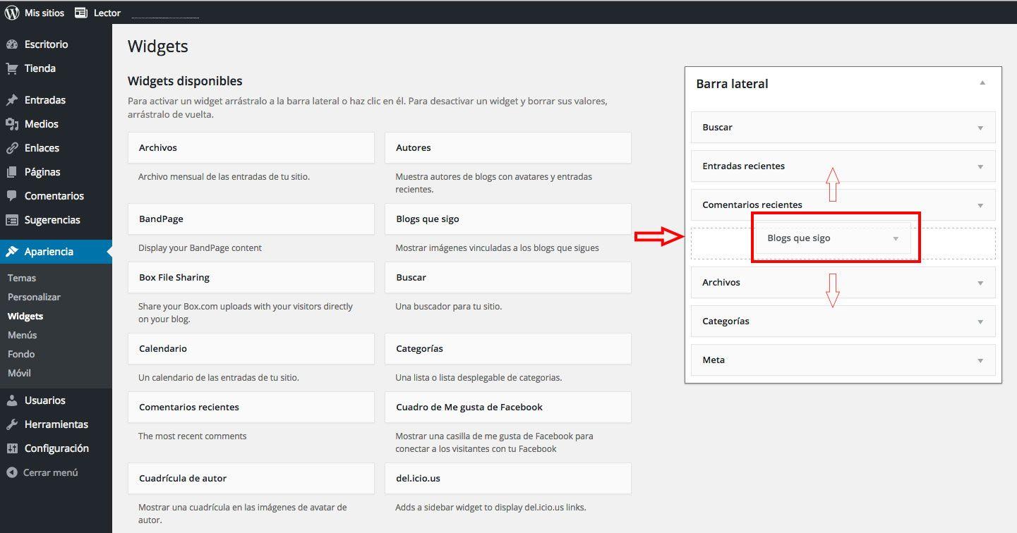 ¿Cómo añadir o eliminar Widgets en WordPress.com?